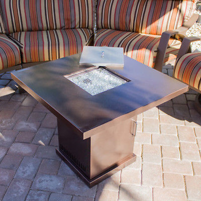 Firepit Table Cover Lpg Gas Outdoor Fireplace Propane Heater Patio, 40,000 BTU