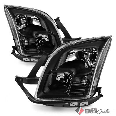 For 06-09 Fusion Black Replacement Headlights Driver+Passenger Side Pair