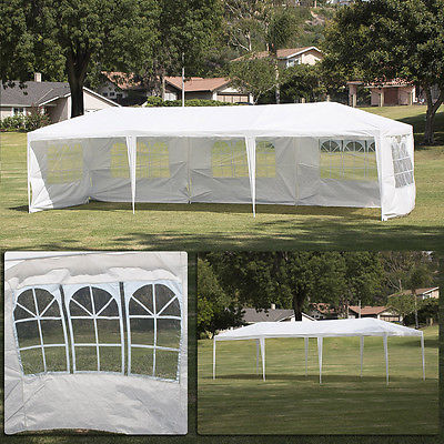 10'x30'Canopy Party Wedding Outdoor Tent Gazebo Pavilion Cater Events w/ 5 Walls