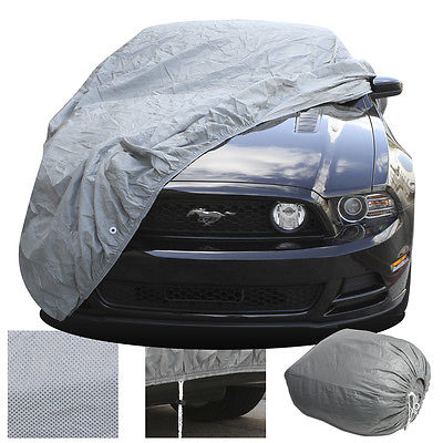 Car Accessories 2 Layer Car Cover Fitted Indoor OutDoor Light Weight Sun Dust UV Rays Breathable