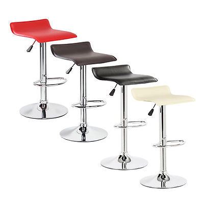 2PC Modern Bar Stools PU Leather Adjustable Swivel Hydraulic Pair Chairs Counter