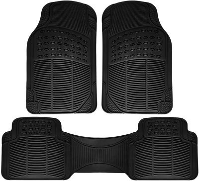 Car Accessories Car Floor Mat for Ford Explorer 3pc Set All Weather Rubber Semi Custom Fit Black