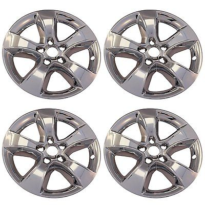 "Car Accessories 4 PC Set Dodge Charger 17"" Chrome Wheel Skins Rim Covers Hub Caps Wheels"