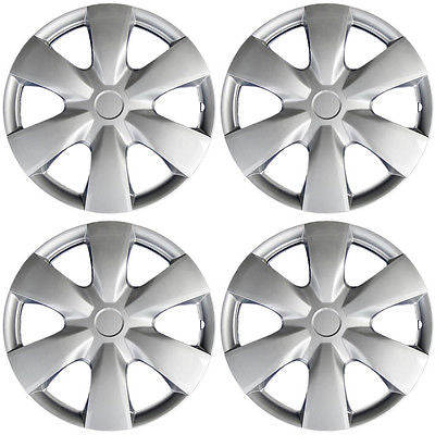"Car Accessories 4 Piece Set A/M Silver ABS Fits 2006 2007 2008 TOYOTA YARIS 15"" Wheel Hub Caps"