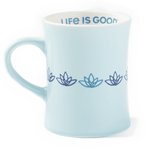 Life is Good Diner Mug  Lotus Bermuda Blue