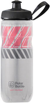Polar Bottles Sport Insulated Tempo Water Bottle - 20oz, Silver/Red
