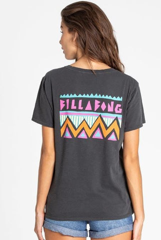 Billabong Womens Feelin Fine Tee Grey