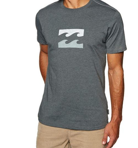Billabong Mens Team Wave Tee Grey