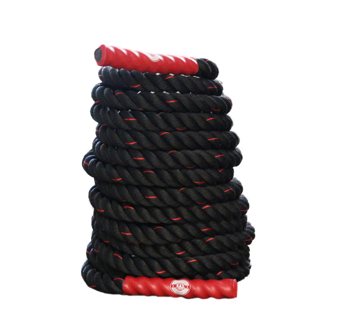Battle Ropes Exercise Rope | Heavy Battle Rope for Crossfit Equipment | Fitness Training Gym Rope| 40 ft x 1.5 in - Red