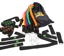 Resistance Bands | Exercise Bands Set - 7 SNAP PROOF Fitness Bands with Handles | Equipment Kit Great For Arms | Workout Legs and Butt