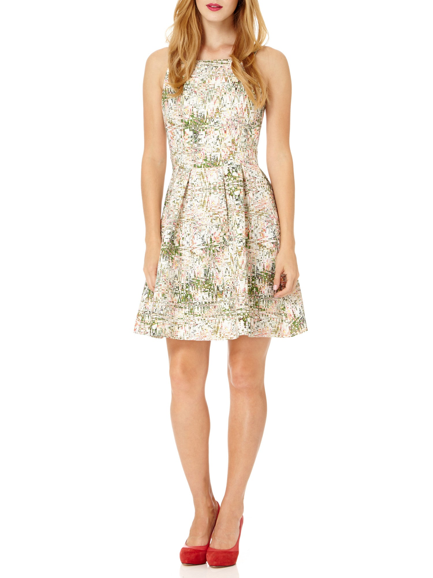 Abstract Orchid Skater Dress – Almost Famous London