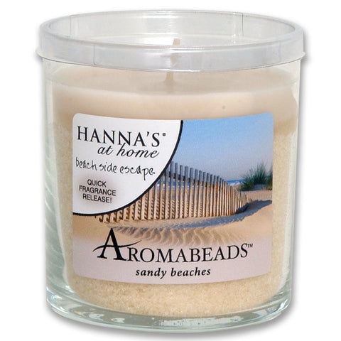 Aromabeads Sandy Beaches Scented Tumbler Candle - Candlemart.com