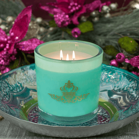 Sugared Pear Luxury 32oz Green Glass Tumbler Candle Luxury Candles Candlemart.com $ 19.99