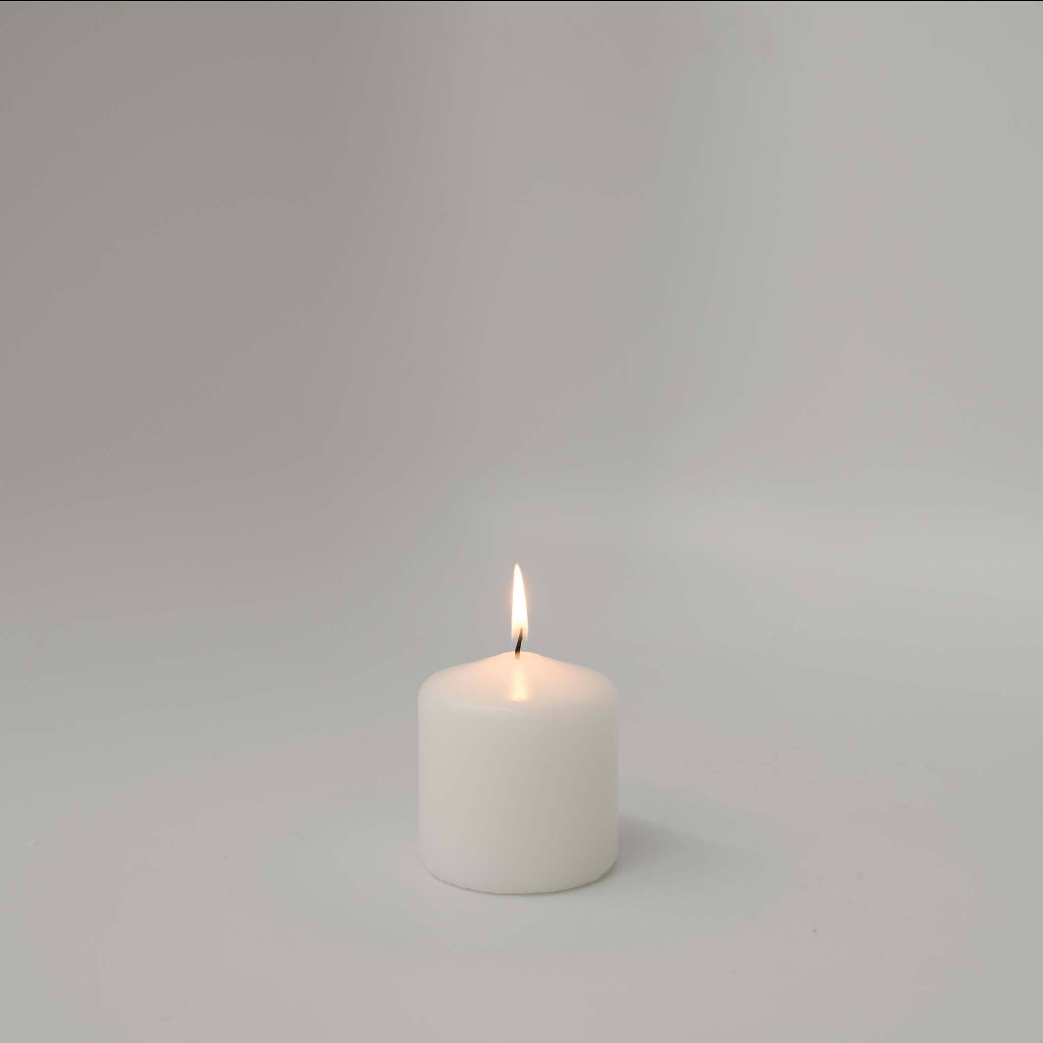 3x3 Unscented White Pillar Candle - Candlemart.com