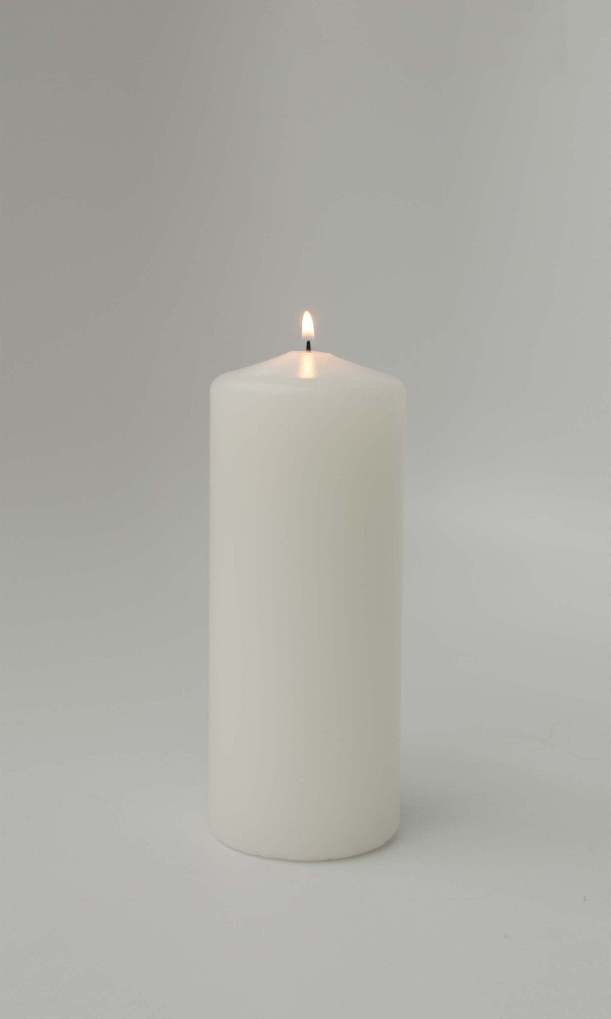 3x6 Unscented White Pillar Candle - Candlemart.com