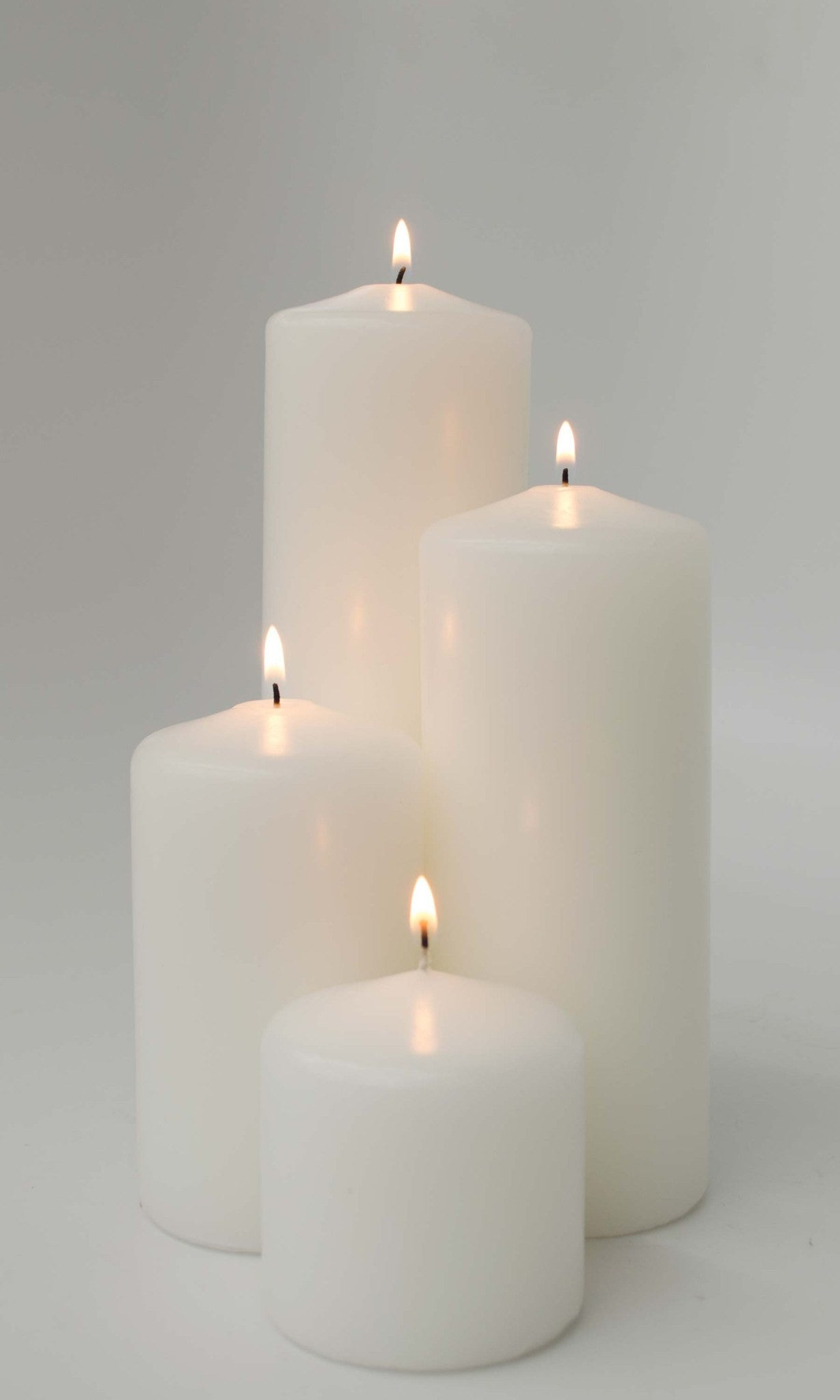 3x9 Unscented White Pillar Candle - Candlemart.com - 2
