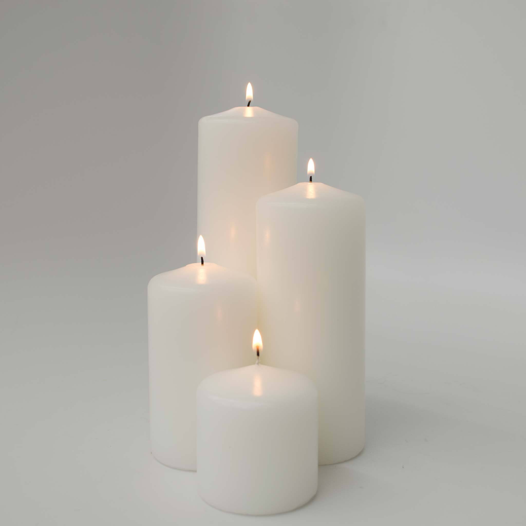 3x4 Unscented Pearl Pillar Candle Candles Candlemart.com $ 2.99