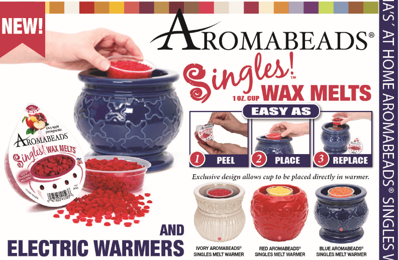 Aromabeads Singles Blue Electric Melt Warmer - Candlemart.com - 2