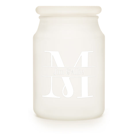 Frosted Apothecary Jar - Candlemart.com