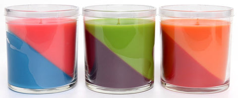 Jolly Rancher Awesome Twosome Cherry-Orange Scented Diagonal Candle - Candlemart.com - 2