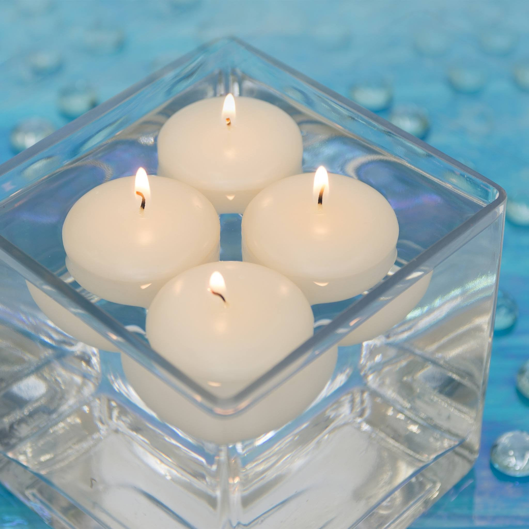 "Ivory Floating Candle 3"" (Case of 12) - Candlemart.com"