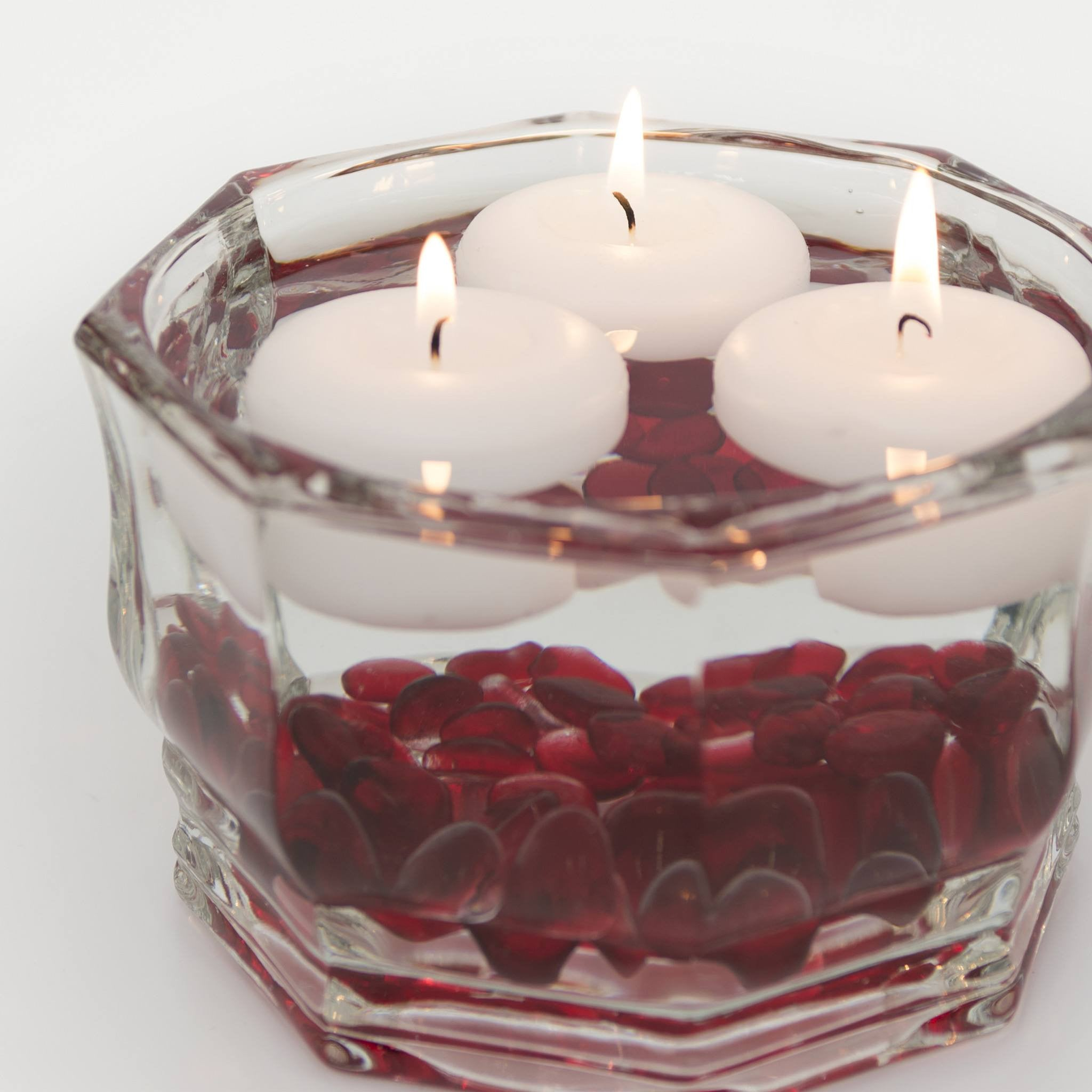 Decorative Glass Bowl - Faceted Octagon - Candlemart.com