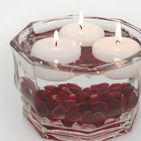 Decorative Glass Bowl - Faceted Octagon - Candlemart.com - 2