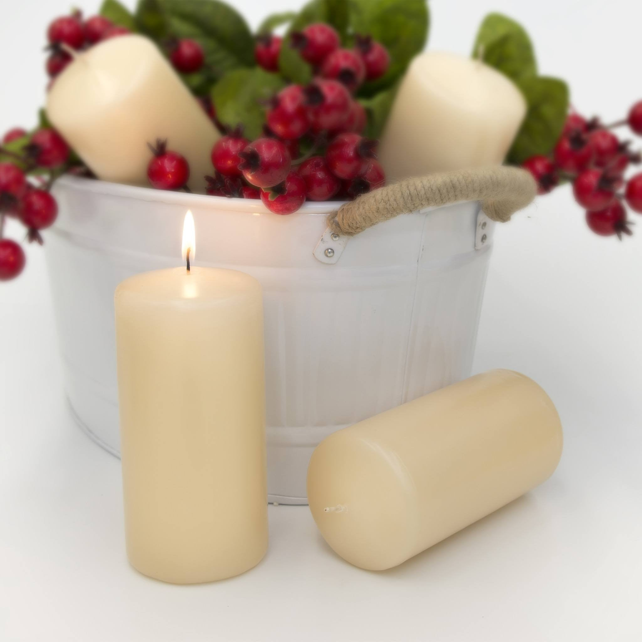 3x6 Unscented Ivory Pillar Candle - Candlemart.com