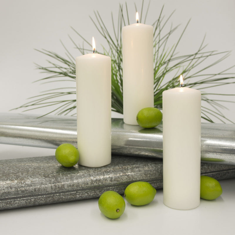3x9 Unscented White Pillar Candle - Candlemart.com