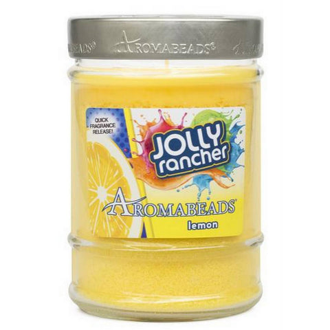 Jolly Rancher Lemon Scented AromaBeads Canister Candle - Candlemart.com