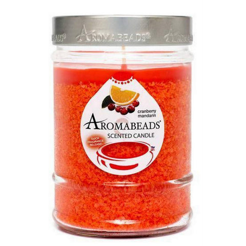Aromabeads Cranberry Mandarin Scented Canister Candle - Candlemart.com