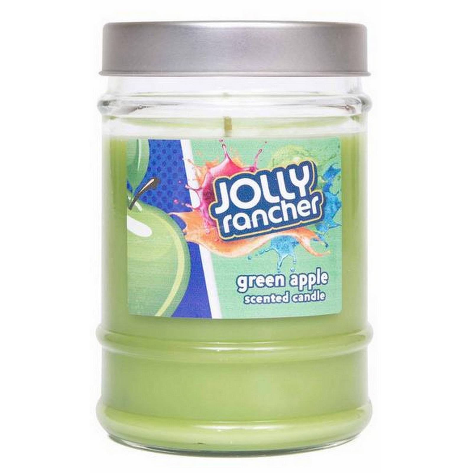 Jolly Rancher Green Apple Scented Canister Jar Candle Candles Candlemart.com $ 5.99