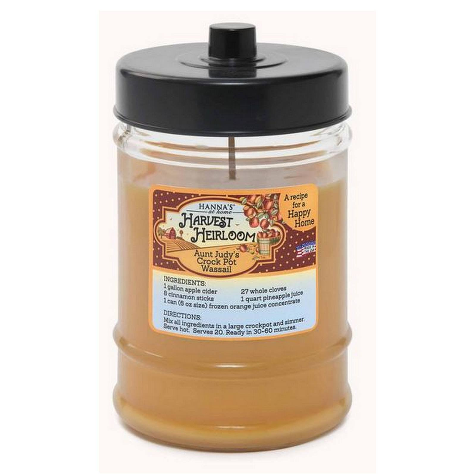 Harvest Heirloom Mulled Cider Scented Canister Jar Candle - Candlemart.com