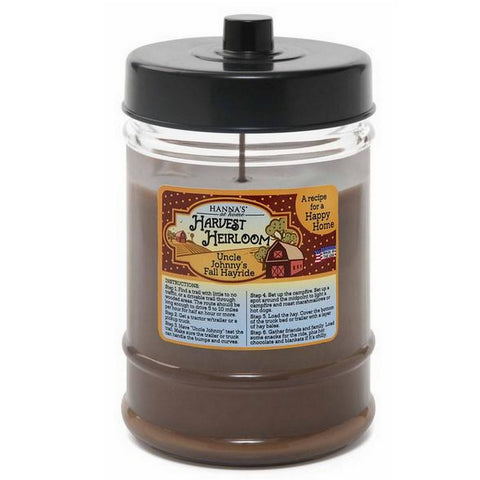 Harvest Heirloom Turning Leaves Scented Canister Jar Candle Candles Candlemart.com $ 7.49