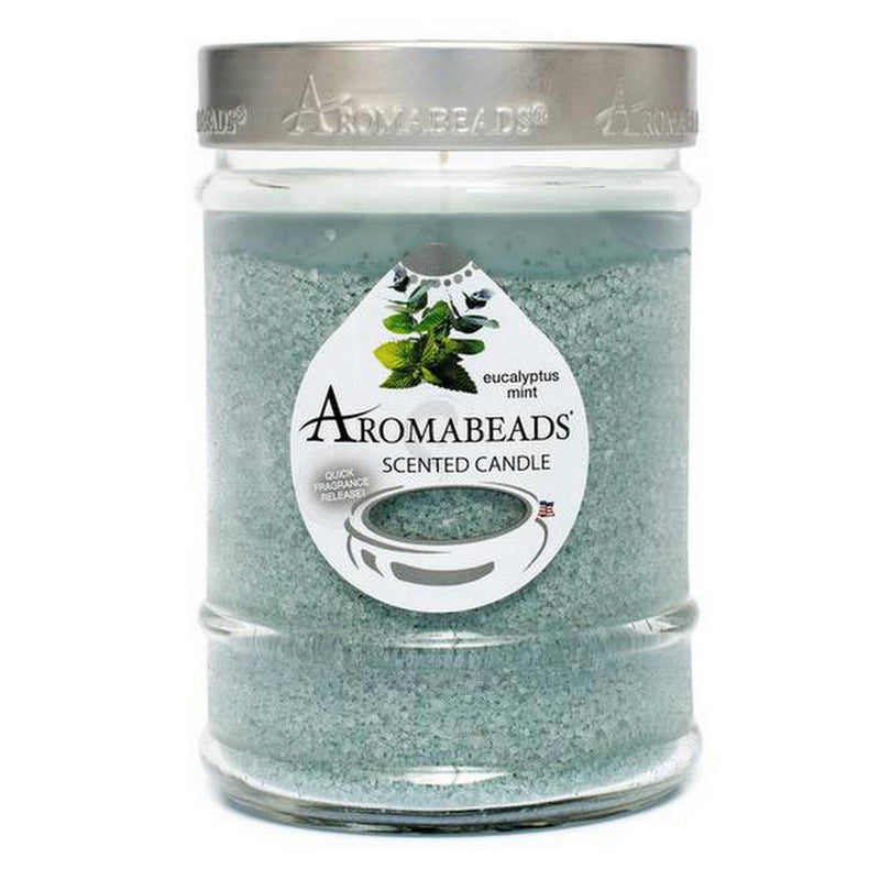 Aromabeads Eucalyptus Mint Scented Candle - Candlemart.com