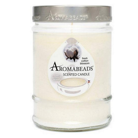 Aromabeads Fresh Cotton Blossom Scented Canister Candle - Candlemart.com