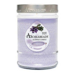 Aromabeads Lavender Thyme Scented Canister Candle - Candlemart.com