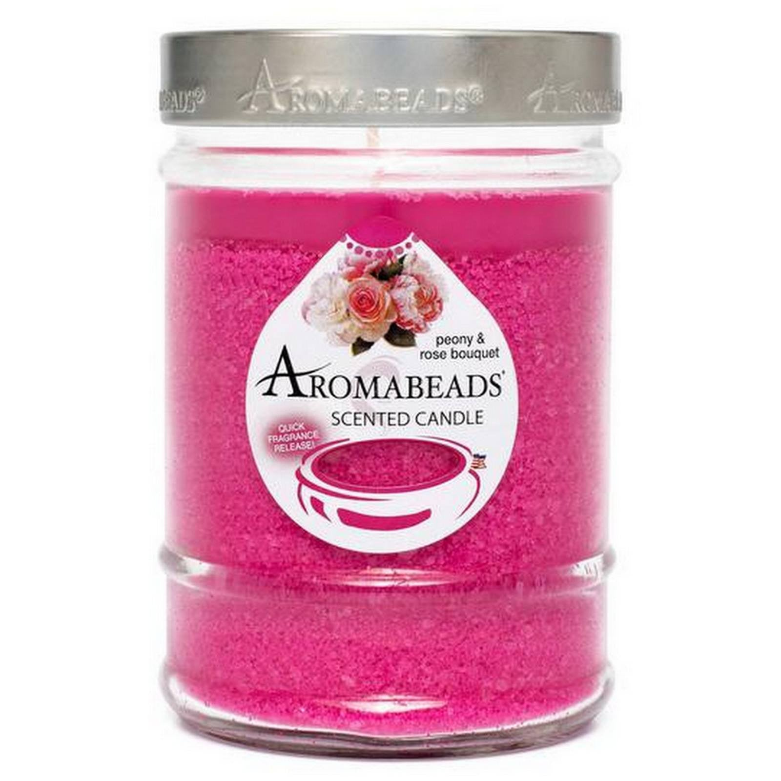 Aromabeads Peony Rose Bouquet Scented Canister Candle - Candlemart.com