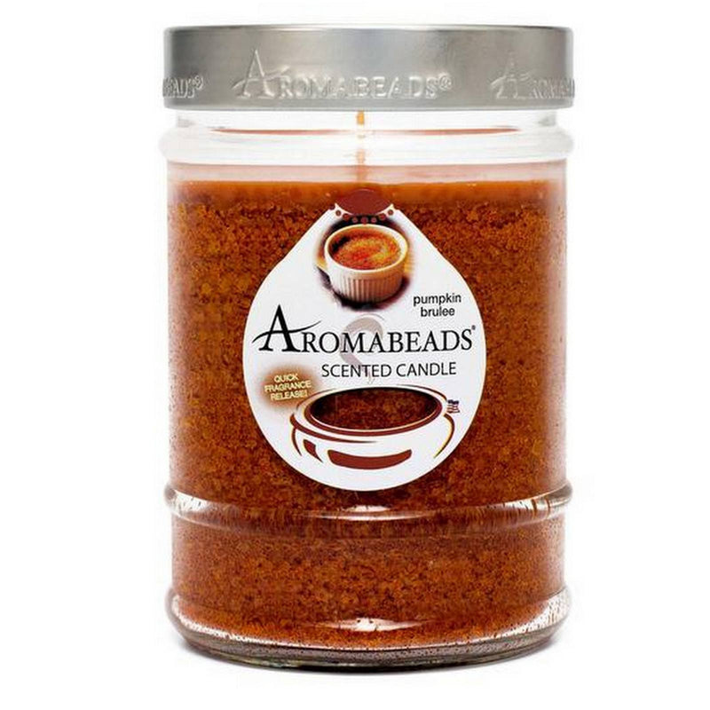 Aromabeads Pumpkin Brulee Scented Canister Candle - Candlemart.com