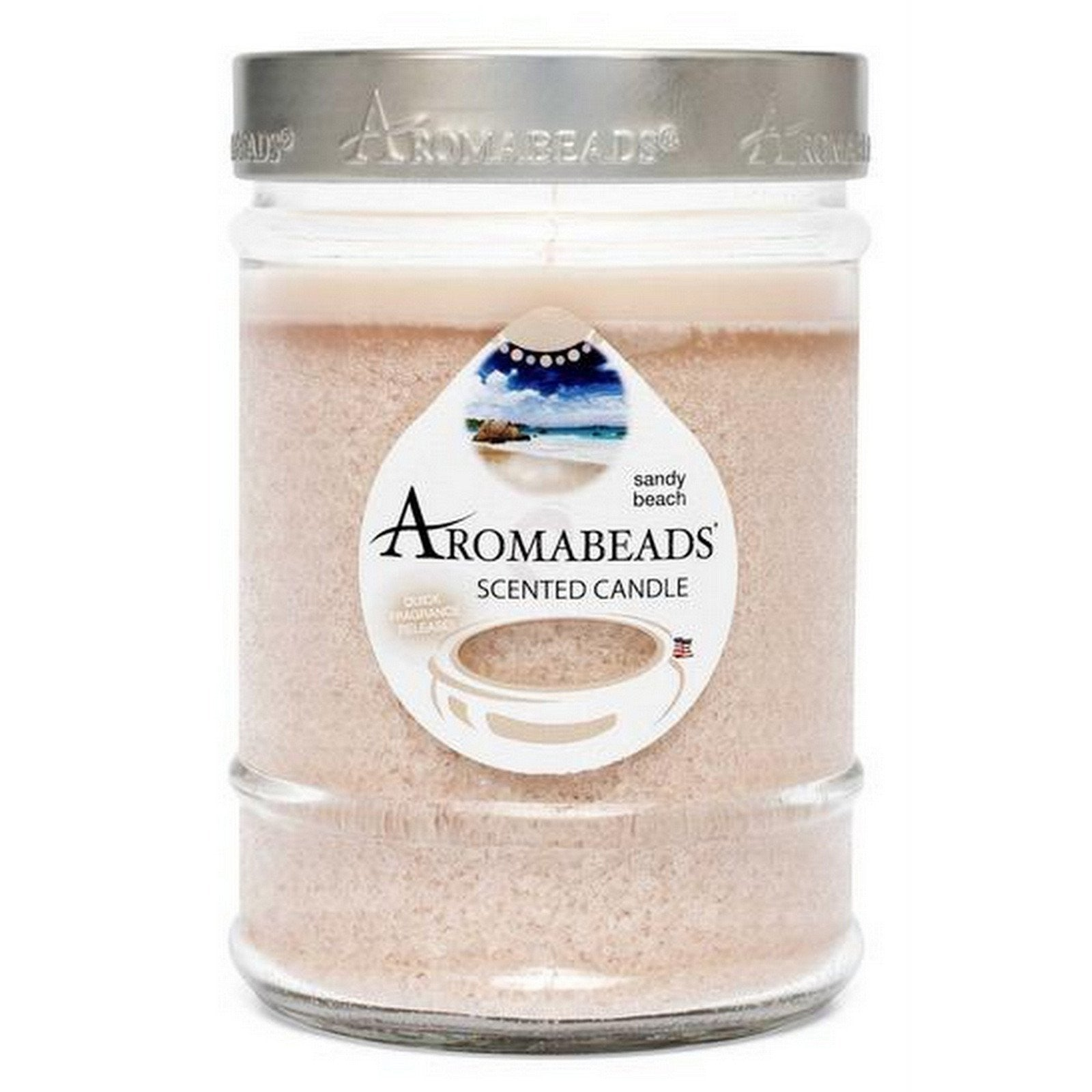 Aromabeads Sandy Beach Scented Canister Candle - Candlemart.com