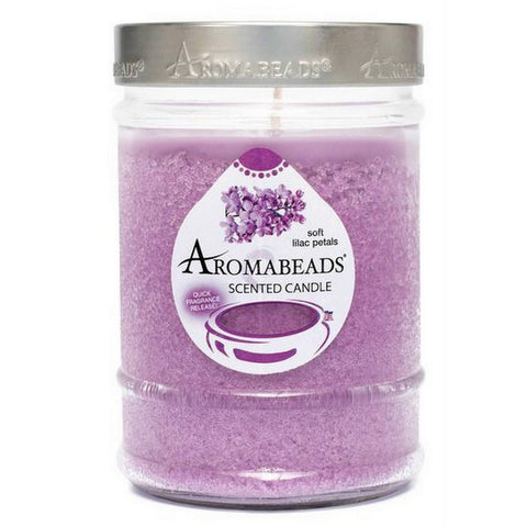 Aromabeads Soft Lilac Petals Scented Canister Candle - Candlemart.com