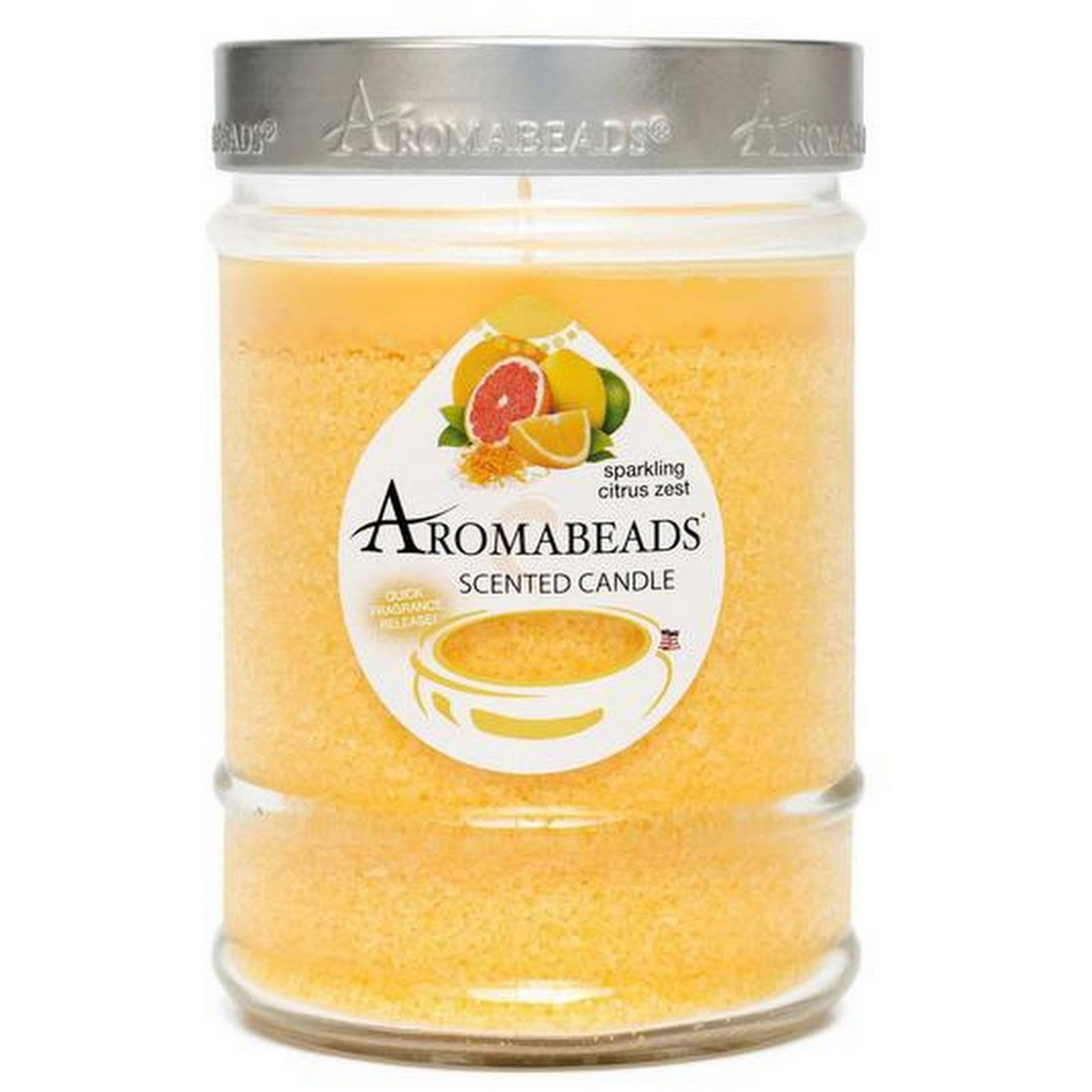 Aromabeads Sparkling Citrus Zest Scented Canister Candle - Candlemart.com