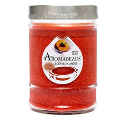Aromabeads Spiced Peach Scented Canister Candle - Candlemart.com