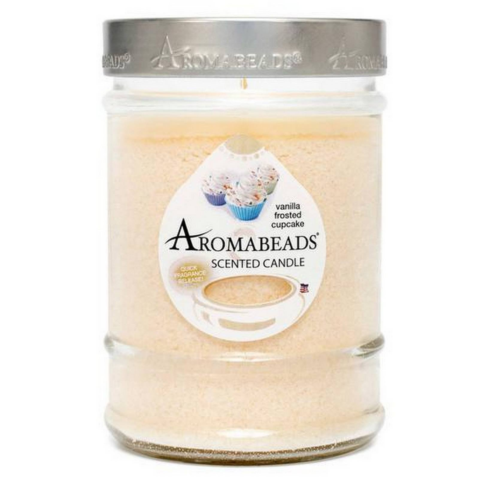 Aromabeads Vanilla Frosted Cupcake Scented Candle Aromabeads Candlemart.com $ 9.99