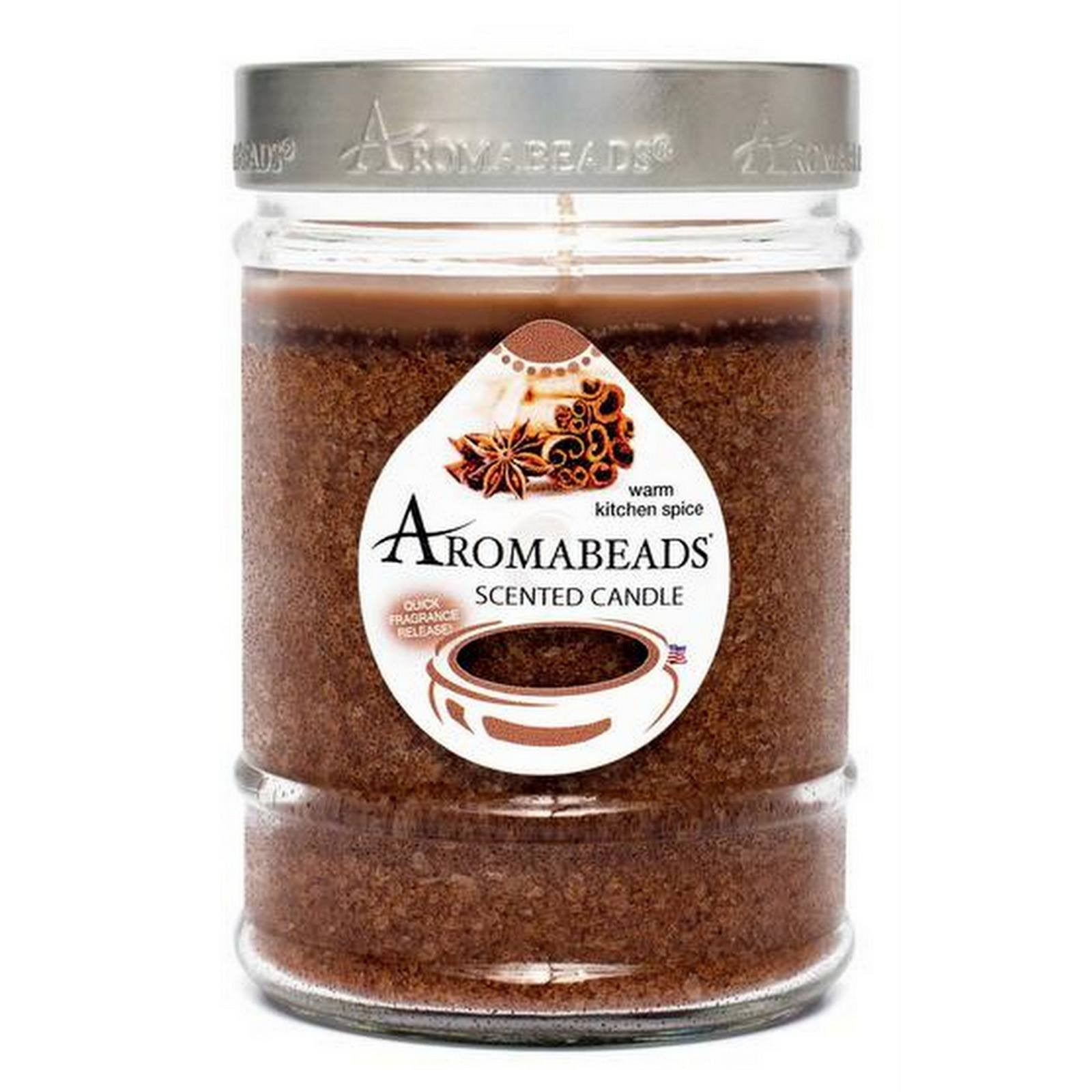 Aromabeads Warm Kitchen Spice Scented Canister Candle - Candlemart.com