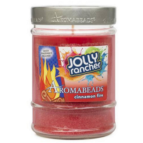 Jolly Rancher Cinnamon Fire Scented Aromabeads Canister Candle - Candlemart.com