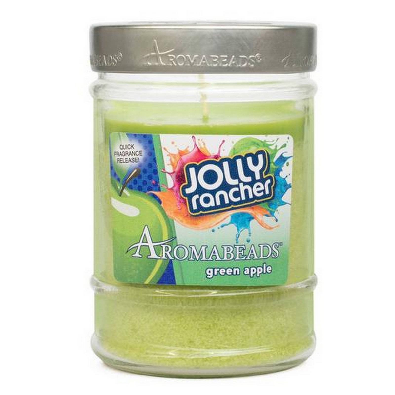 Jolly Rancher Green Apple Scented Aromabeads Canister Candle - Candlemart.com