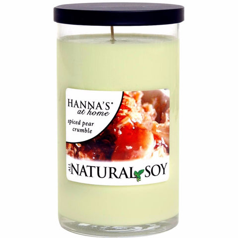 Natural Soy Spiced Pear Crumble Scented Soy Candle - Candlemart.com - 1