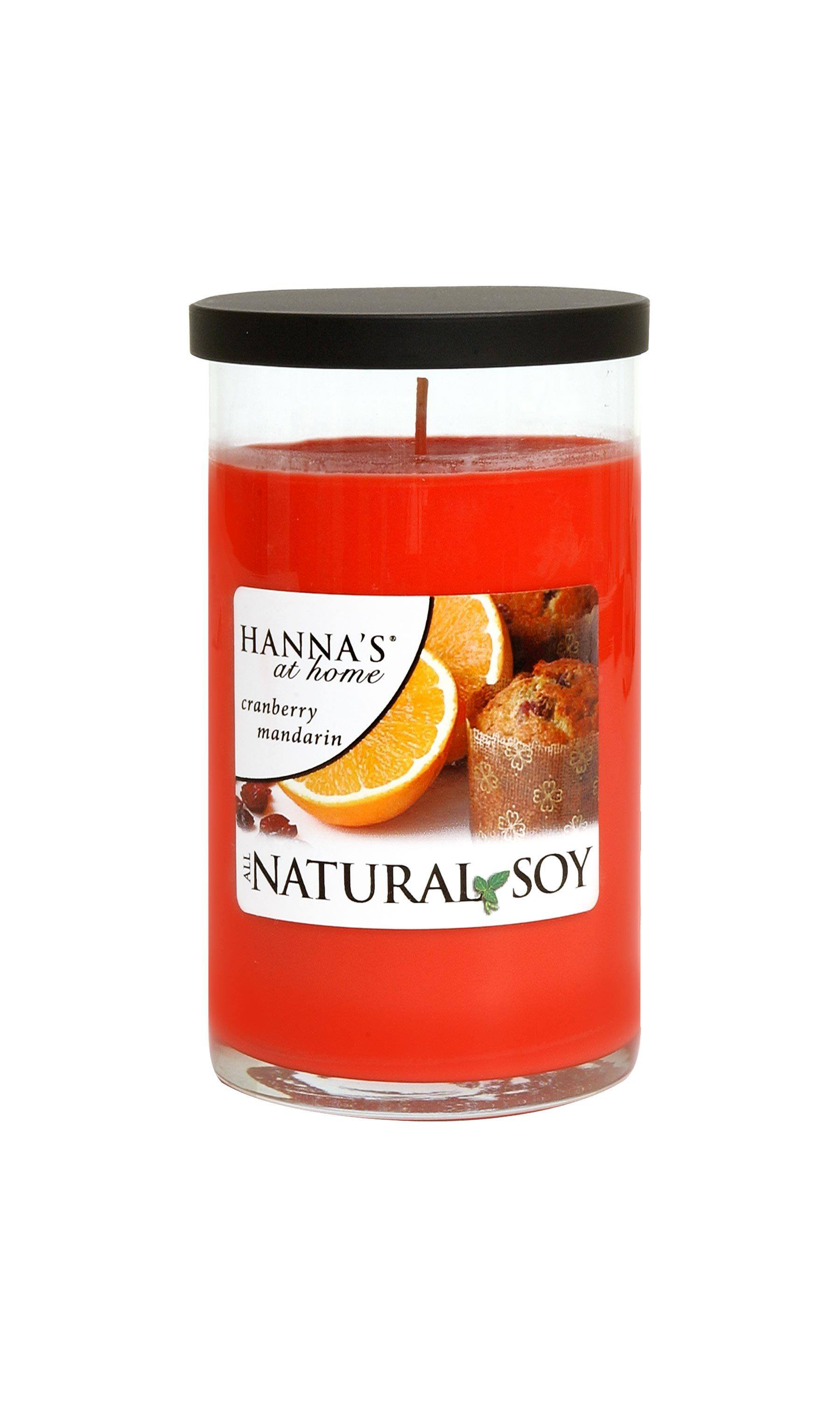 Natural Soy Cranberry Mandarin Scented Soy Candle