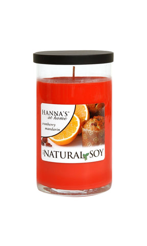 Natural Soy Cranberry Mandarin Scented Soy Candle - Candlemart.com